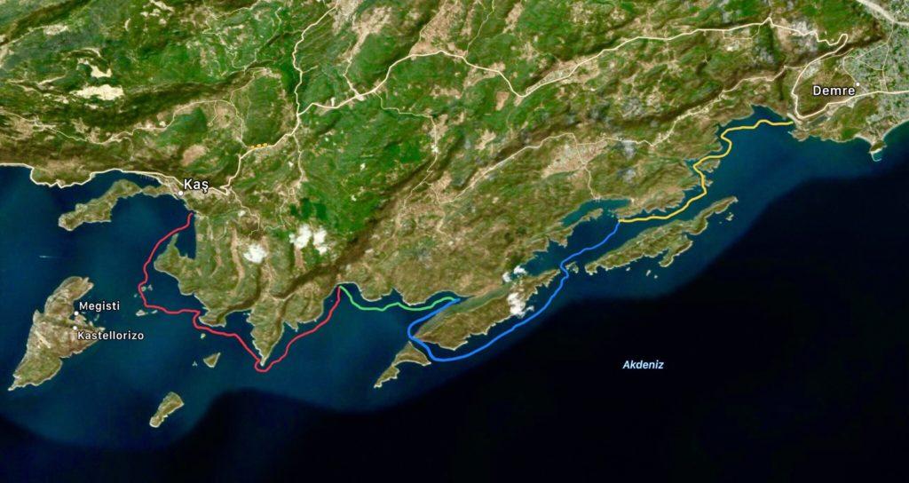 Işık Kıyısı Turu Deniz Kanosu Günleri Haritası