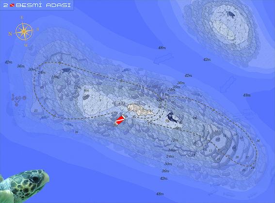 Besmi Island Kaş Diving Point